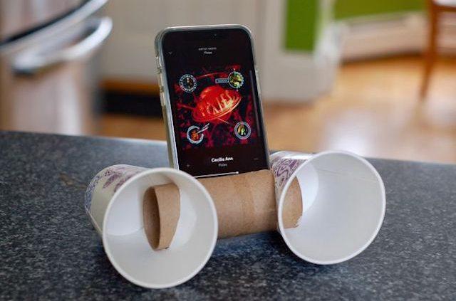 altavoz casero para el móvil